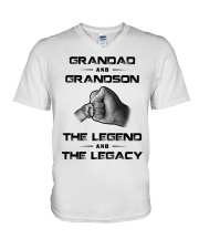 Granddad - GrandSon V-Neck T-Shirt tile