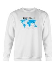 Pickleball - Uniting the World map Crewneck Sweatshirt front