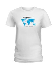 Pickleball - Uniting the World map Ladies T-Shirt thumbnail