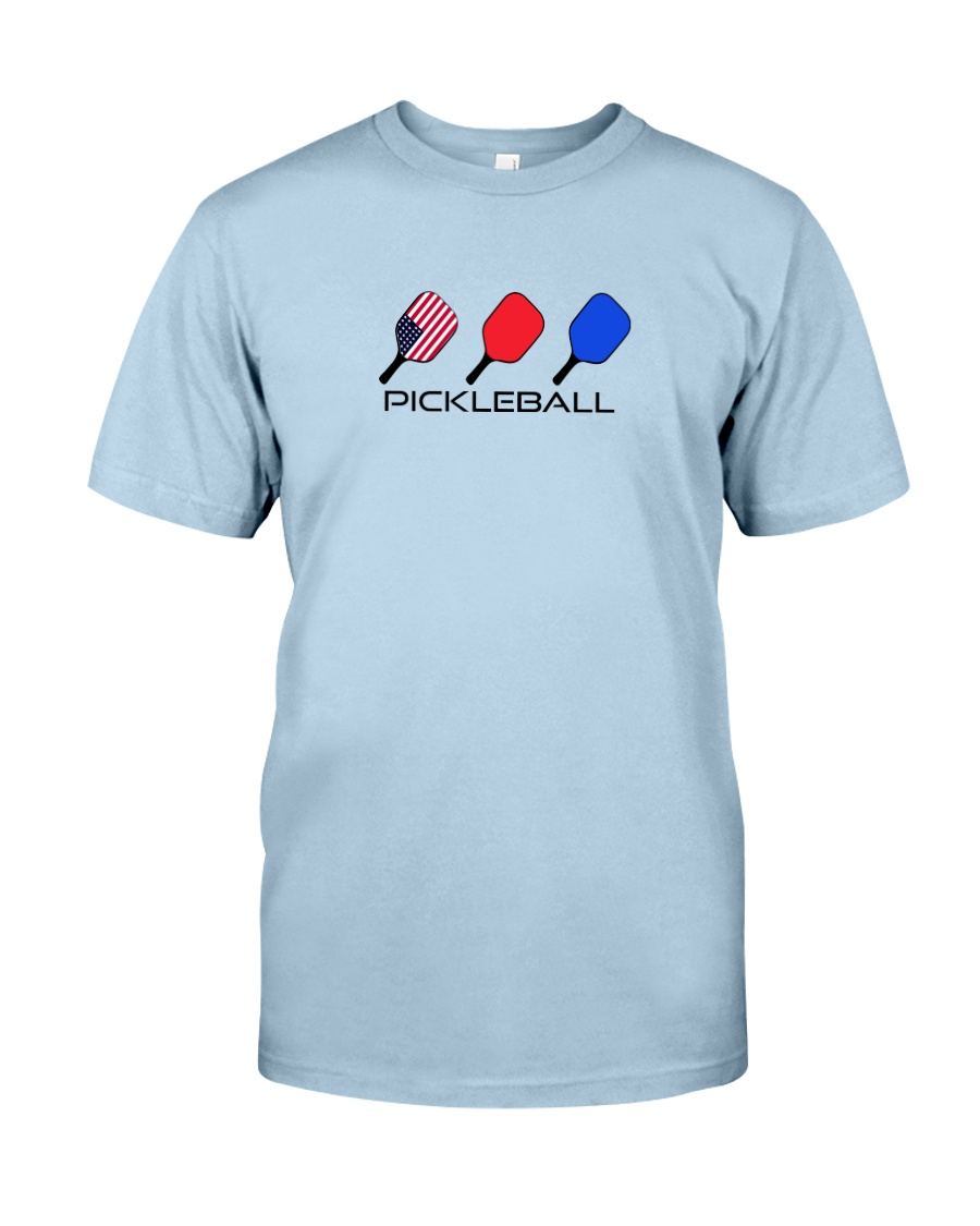 Pickleball USA flag tees and hoodies Classic T-Shirt