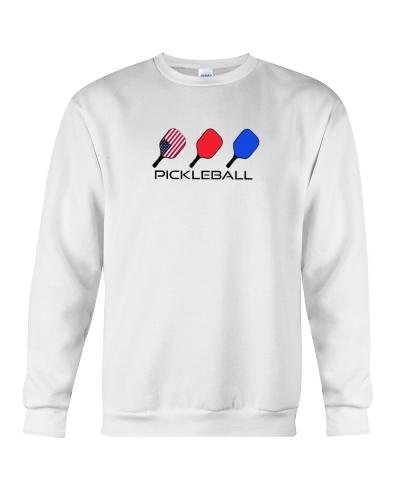 Pickleball USA flag tees and hoodies