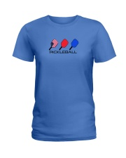 Pickleball USA flag tees and hoodies Ladies T-Shirt tile