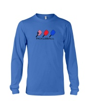 Pickleball USA flag tees and hoodies Long Sleeve Tee tile
