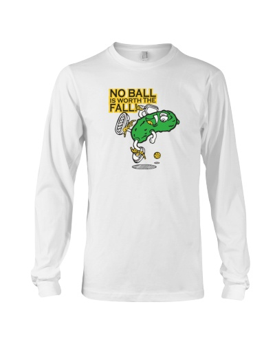 Pickleball t shirt- No Ball is worth the Fall