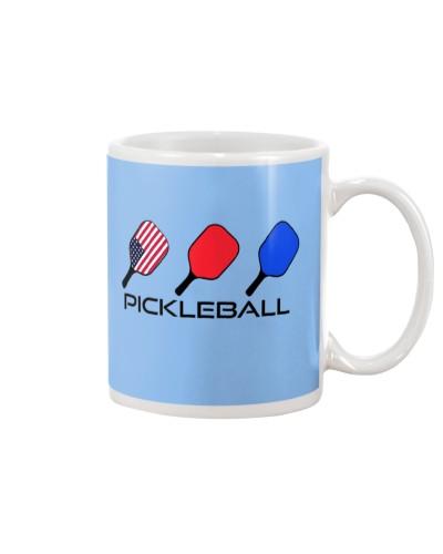 Pickleball USA 3 Flags paddle mug