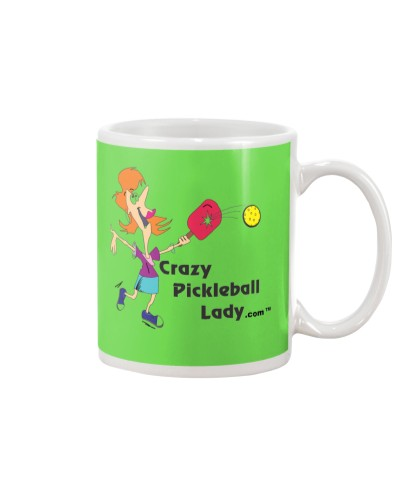 Crazy Pickleball Lady Coffee Mug