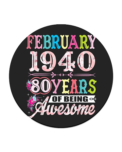80 Years Old February 1940 80th Birthday