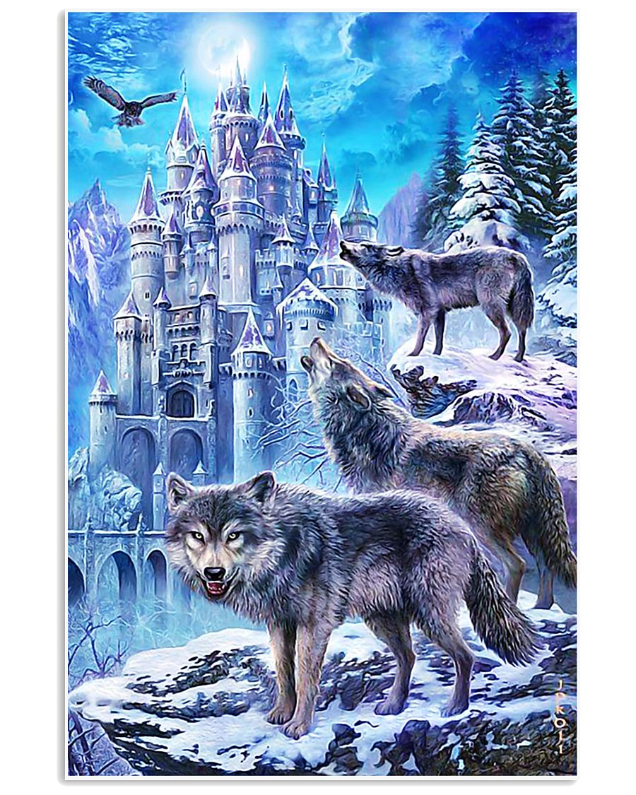 Three Wolf Poster 11x17 Poster