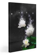 Lotus White Gallery Wrapped Canvas Prints tile