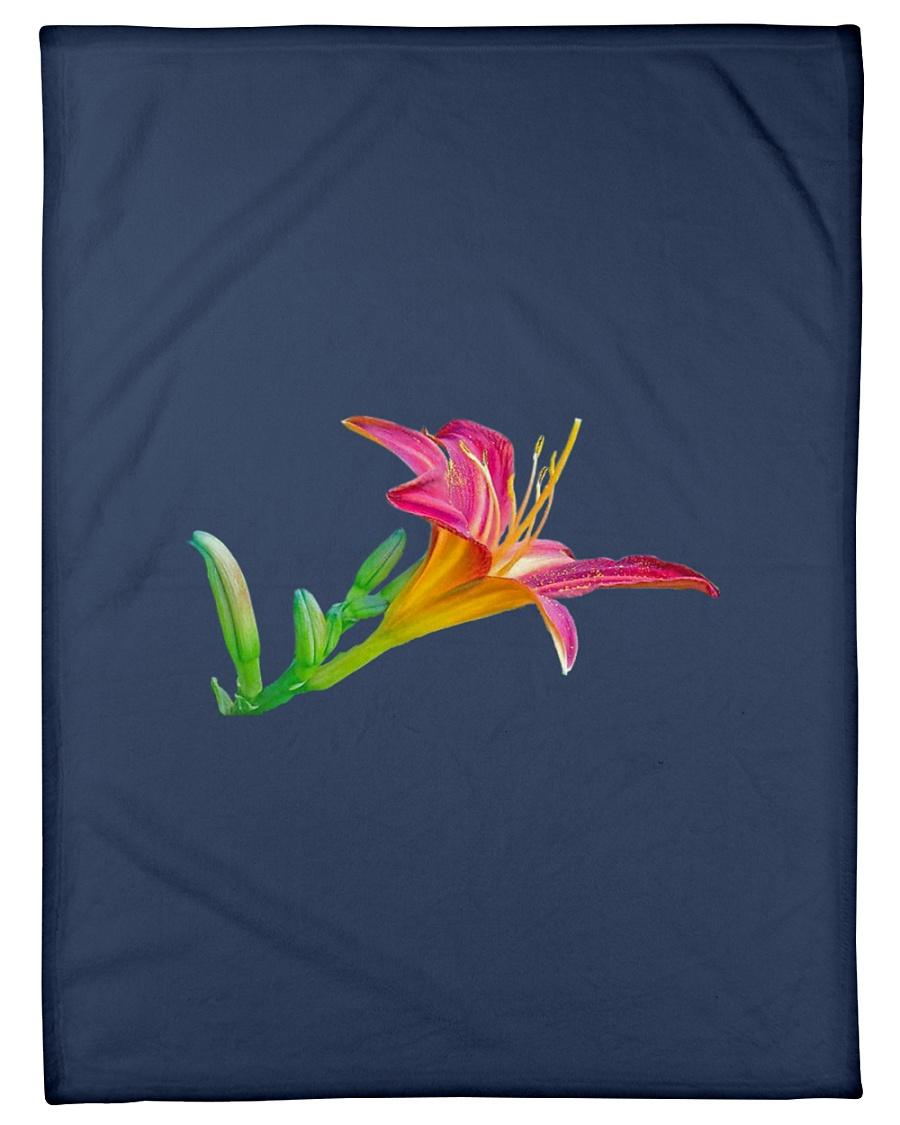 "Lily flower Small Fleece Blanket - 30"" x 40"""
