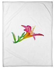 "Lily flower Small Fleece Blanket - 30"" x 40"" thumbnail"