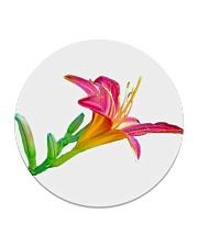 Lily flower Circle Coaster thumbnail