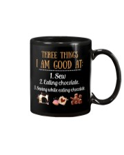 Fabric sewing quilting chocolate Mug tile