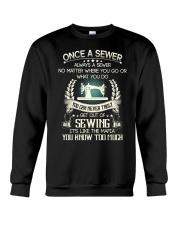 Sewing quilting fabric  Crewneck Sweatshirt thumbnail