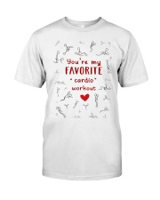 You're My Favorite Cardio Workout Funny Couple Mug Classic T-Shirt front