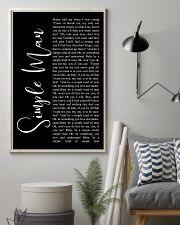 Simple Man Lyrics 11x17 Poster lifestyle-poster-1