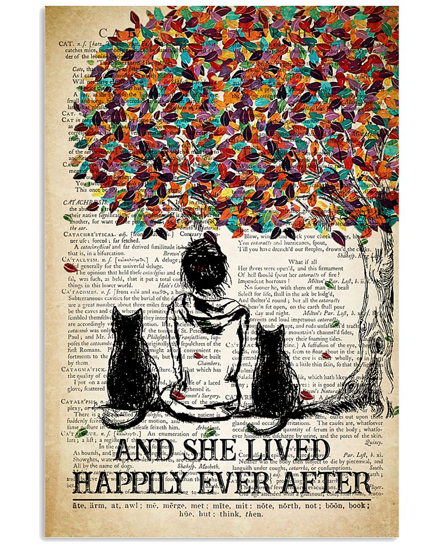 Two Cat And She Lived Happily Ever 11x17 Poster