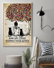 Two Cat And She Lived Happily Ever 11x17 Poster lifestyle-poster-1