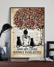Two Cat And She Lived Happily Ever 11x17 Poster lifestyle-poster-2