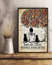 Two Cat And She Lived Happily Ever 11x17 Poster lifestyle-poster-3