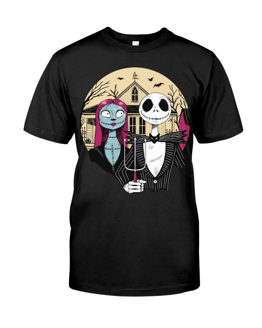 American Gothic Halloween Nightmare Before Classic T-Shirt