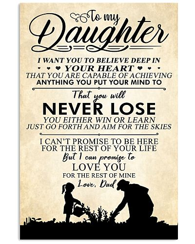 Dad To My Daughter You Will Never Lose I Love You