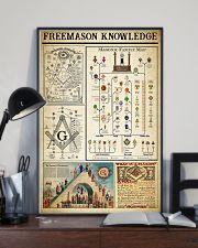 Freemason Knowledge Black White Satin Portrait 11x17 Poster lifestyle-poster-2