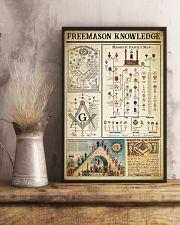 Freemason Knowledge Black White Satin Portrait 11x17 Poster lifestyle-poster-3