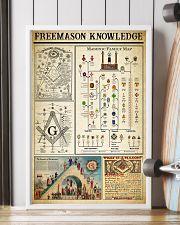 Freemason Knowledge Black White Satin Portrait 11x17 Poster lifestyle-poster-4