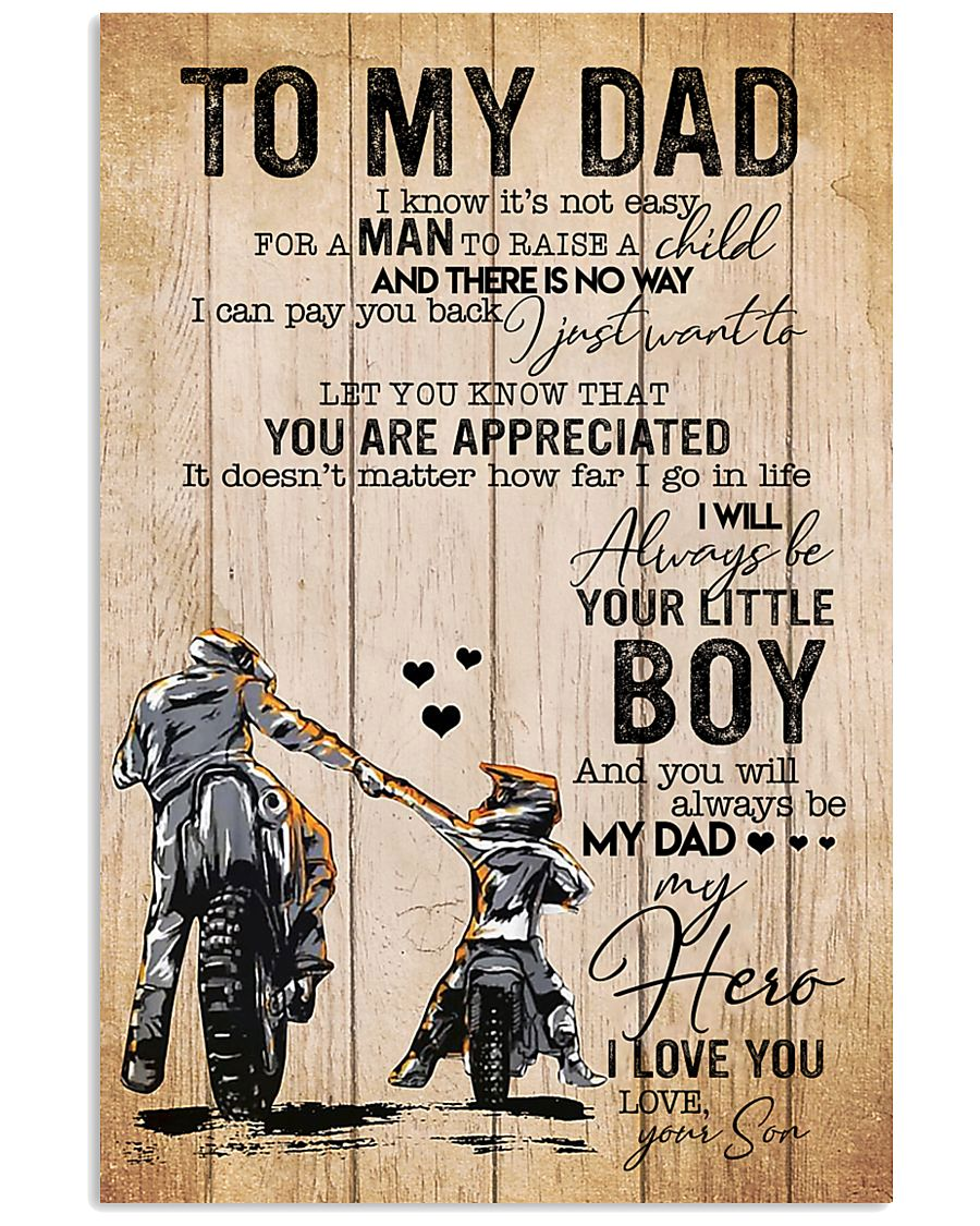 Son To My Dad You Will Always Be Dad My Hero 11x17 Poster