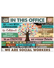In This Office Social Worker We Do Teamwork 17x11 Poster front
