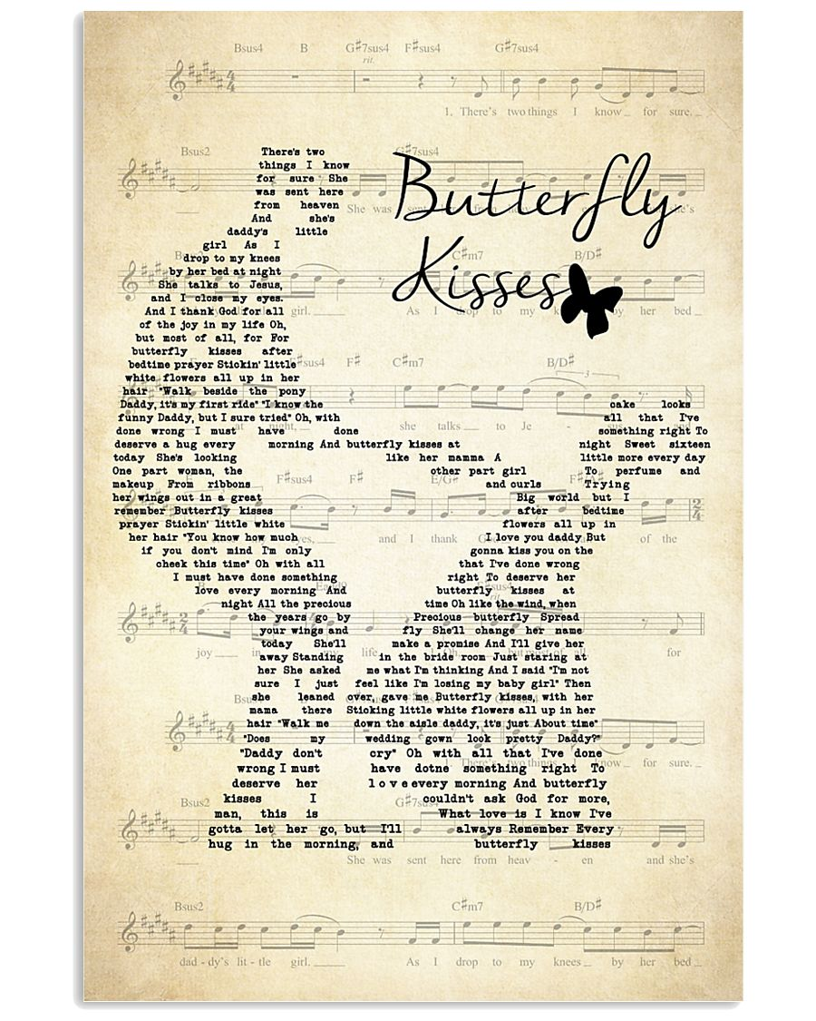Butterfly Kisses Lyrics Bob Carlisle 11x17 Poster