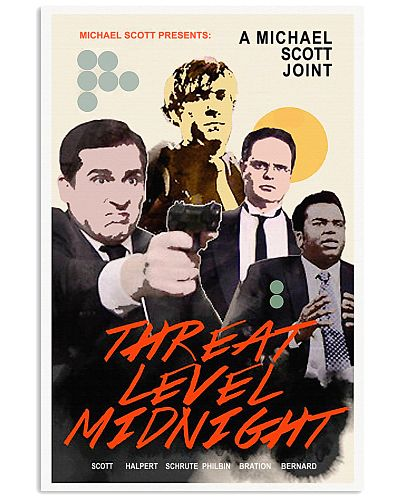 A Michael Scott Joint Threat Level Midnight Poster