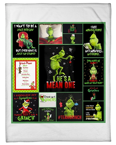 The Grinch Cartoon Quilt Blanket Christmas
