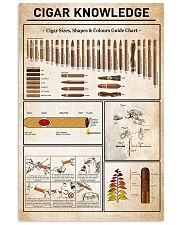 Cigar Knowledge Black White Poster No Frame 11x17 Poster front