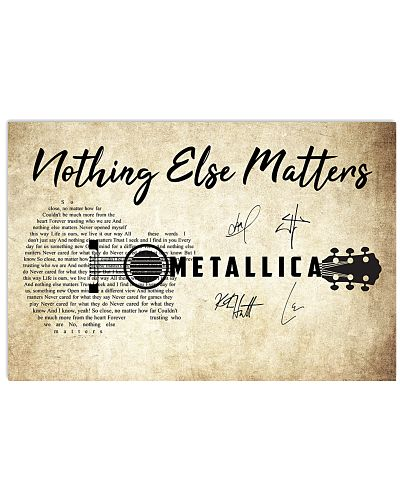 Nothing else matters poster Metallica poster