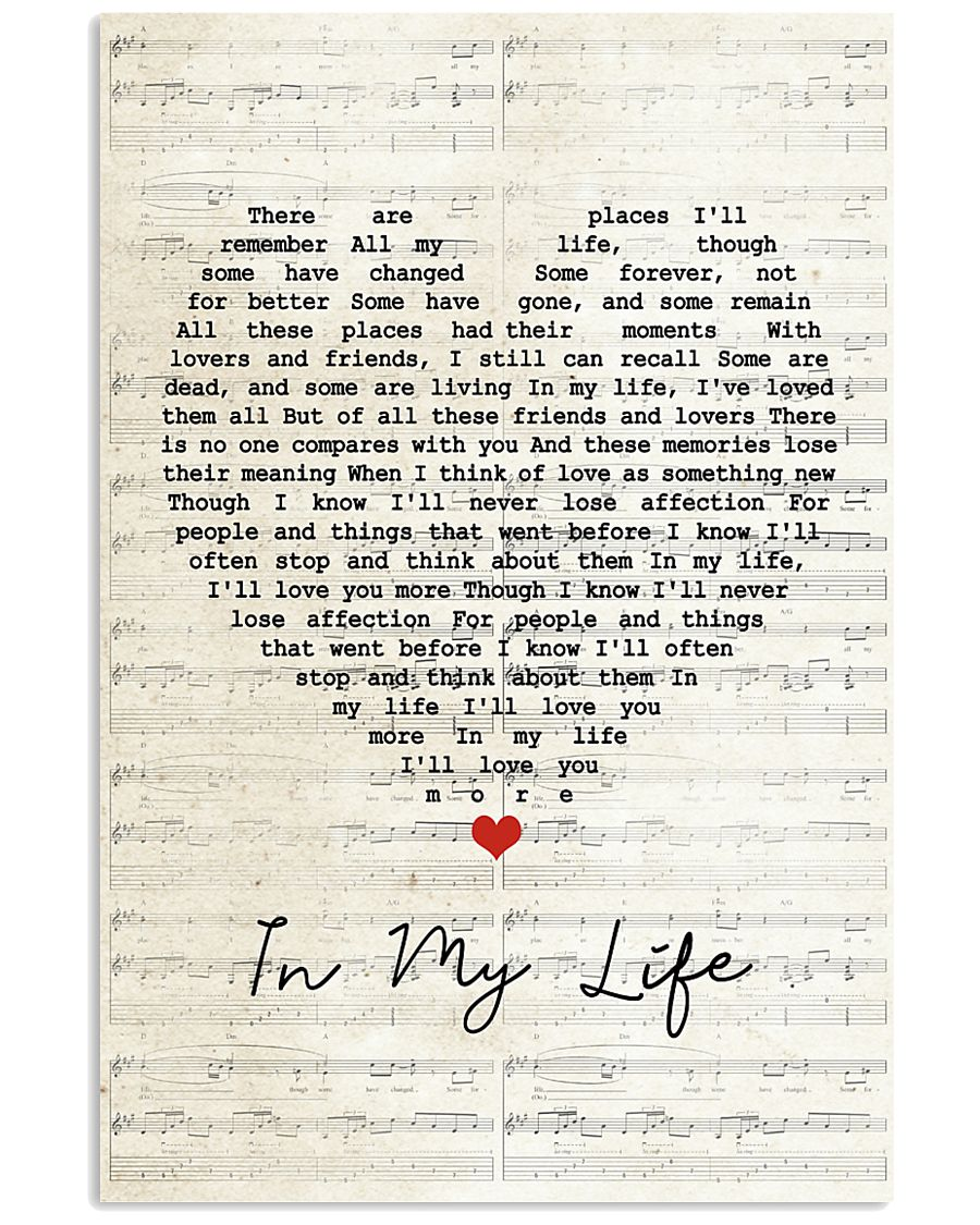 In My Life Lyrics 11x17 Poster