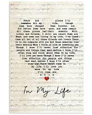 In My Life Lyrics 11x17 Poster front