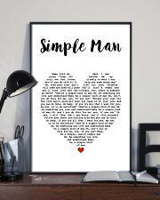 Simple Man Lyrics Landscape Paper Poster No Frame 11x17 Poster lifestyle-poster-2