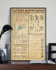 Tattoo Knowledge Black White Satin Portrait Poster 11x17 Poster lifestyle-poster-2