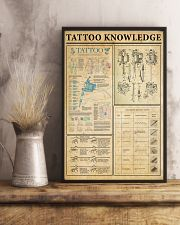 Tattoo Knowledge Black White Satin Portrait Poster 11x17 Poster lifestyle-poster-3