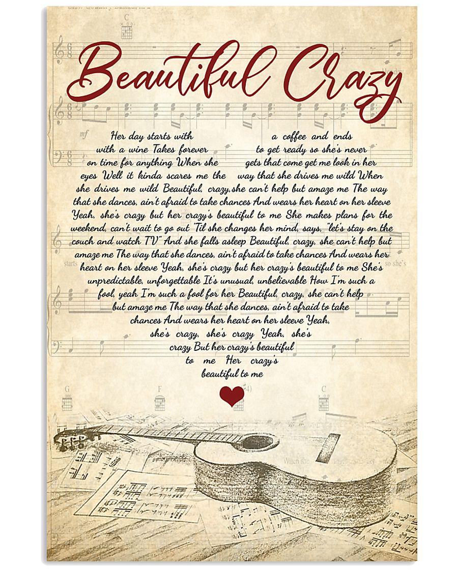 Beautiful Crazy poster Luke Combs 11x17 Poster