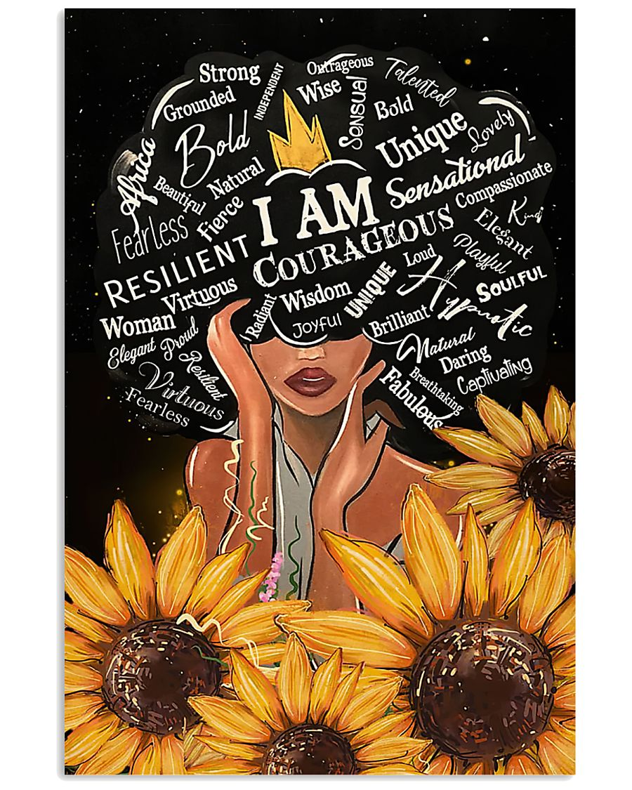 Black Girl I Am Afro Woman 11x17 Poster