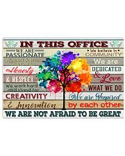In This Office We Are Passionate We're Not Afraid 17x11 Poster front
