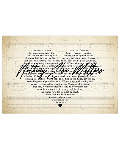 Nothing Else Matters Lyrics Poster Metallica Music