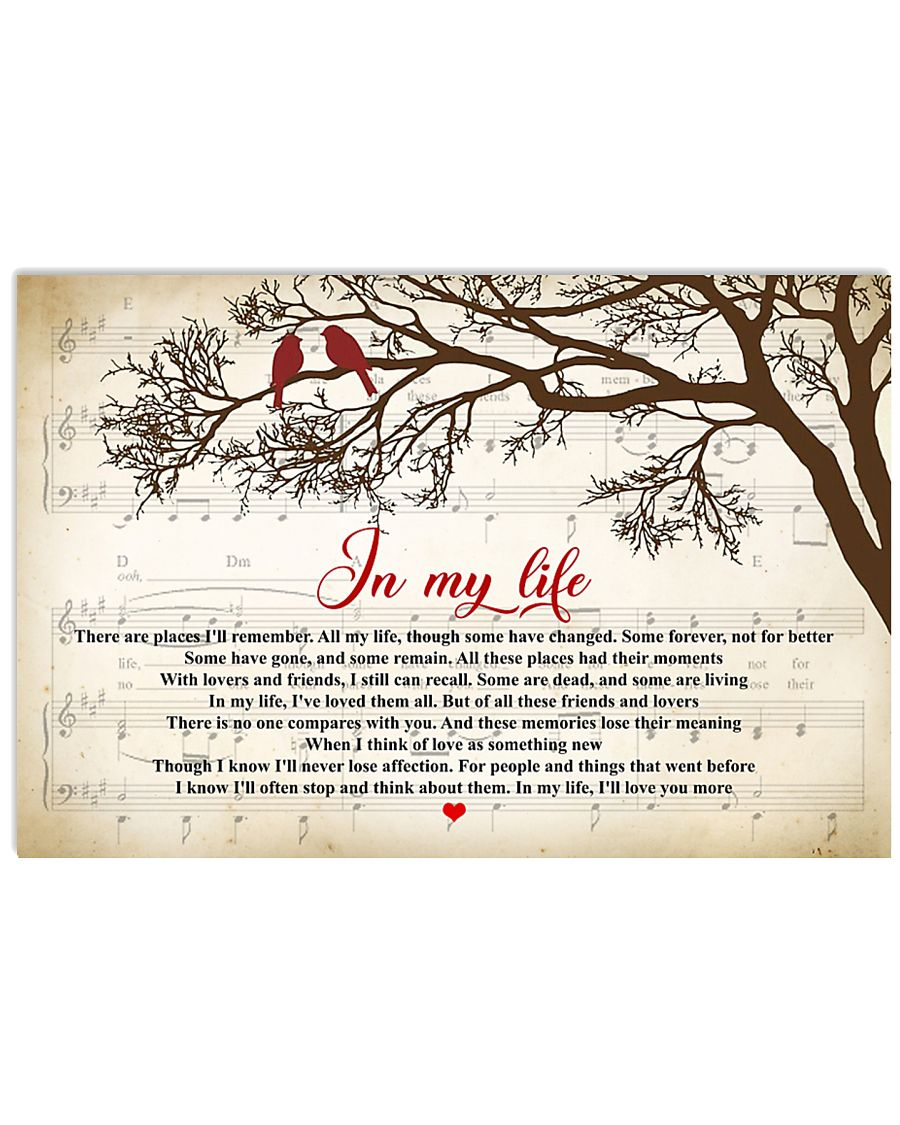 In My Life The Beatles Lyrics 24x16 Poster