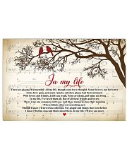 In My Life The Beatles Lyrics 24x16 Poster front