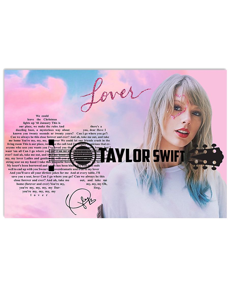 Lover Poster Song Lyrics Poster Taylor Swift 24x16 Poster