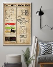 Time Travel Knowledge Black White Portrait Poster 11x17 Poster lifestyle-poster-1