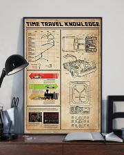 Time Travel Knowledge Black White Portrait Poster 11x17 Poster lifestyle-poster-2